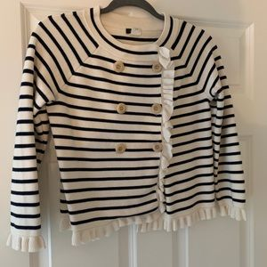 J. Crew striped button front cardigan